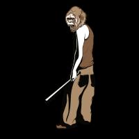 crazy monkey with stick
