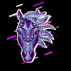 Pferdekopf Metallisierer 80er Retro Violett