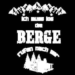 Berge rufen Mounten Wandern Spruch Illustration