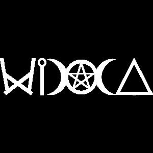 Hexen Symbole WICCA Schriftzug