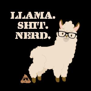 Nerd Lama Shit cool kackhaufen Geschenk