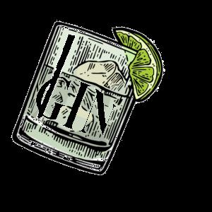 GINie (Genie Wortspiel, Wortwitz) Gin and Tonic