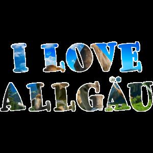 I Love Allgäu Print, Allgäu, Hematliebe