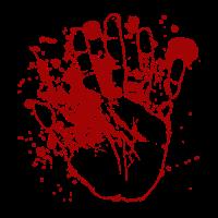 Blutige Hand Halloween Horror