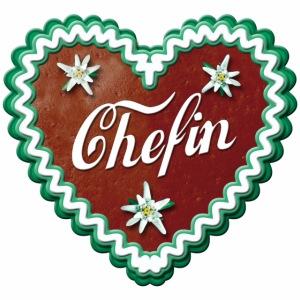 Lebkuchenherz Chefin Edelweiss Liebe Herz Süße