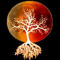 Baum des Lebens DNA mit Blutmond