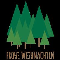 FROHE WEIHNACHTEN | Weihnachtsbäume Tannen Grün