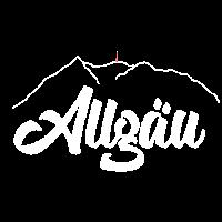 Allgäu Grünten Print weiss, Allgäuer Berge
