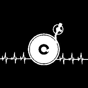Hearbeat Vinyl T Shirt