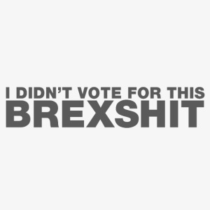I didn't vote for this BREXSHIT