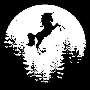 Mond Einhorn Einhoerner Unicorn Fantasie Moon T Sh