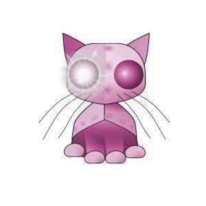robotkatt rosa scifi leksak