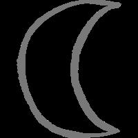 Mond Symbol Luna Amulett freie farbwahl