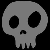 skull schädel totenkopf comic individualisierbar