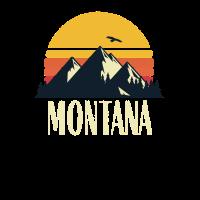 Montana Retro Vintage State Mountain Sonnenuntergang