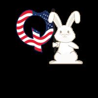 Weißes Kaninchen Q Anon Feuer WWG1WGA QAnon Verschwörung