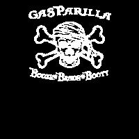 Gasparilla Piraten Festival Schädel Schnaps Perlen Beute