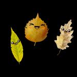 Kawaii Herbst Blätter