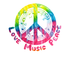 Musik Hippie Music Geschenk Peace Frieden Liebe