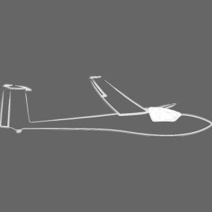 Club Libelle Glasflügel Segelflugzeug Geschenk