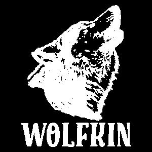 Heulender Wolfskopf Wolfkin