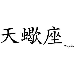 signe chinois scorpion