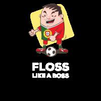 Portugal Fußball Futbol Floss wie ein Chef