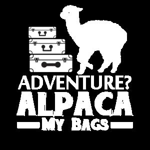 Abenteuer Alpaka meine Taschen, lustige Alpaka, Alpaka Geschenke