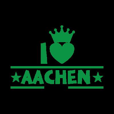 Aachen - Aachen - Ich liebe Aachen,Geschenk,Aachen Vorwahl,Aachen Stadt,Aachen Skyline,Aachen Fußball,Aachen Deutschland,Aachen