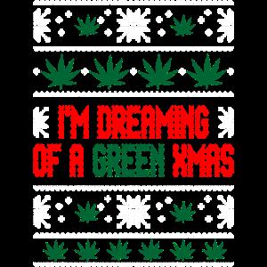 weed green ugly christmas sweater xmas