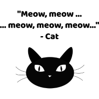 Meow, meow ... meow