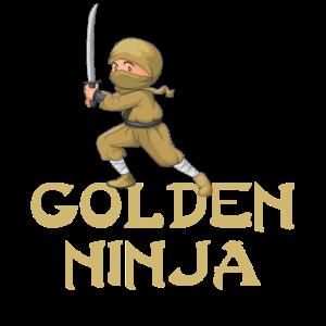 Golden Ninja Goldener Ninja Go T-Shirt