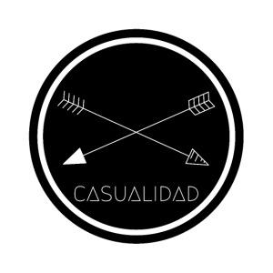 CASUALIDAD circular black logo