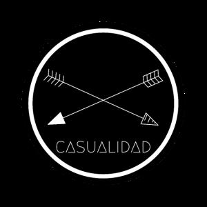 CASUALIDAD kreisförmiges schwarzes Logo