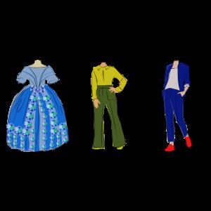 Die Epochen der Mode von 1850, 1975 und 2018