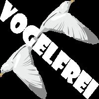 VOGELFREI INS LEBEN LEBENSGLÜCK T-SHIRT