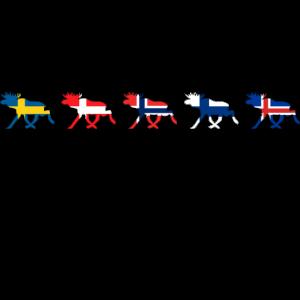 Scandinavia Countries ELK Runen Länder Nordisch