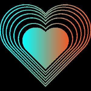 Grafisch Goa Rave 3D Effekt Herzen