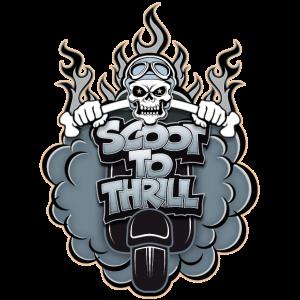 Scoot to Thrill Geschenk für Motor Roller Fahrer