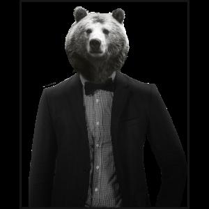 Bär im Anzug