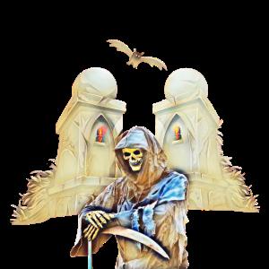 Skelett Sensenmann Halloween