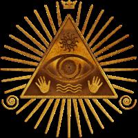 Das allsehende Auge Gottes - gold