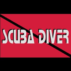 scuba diver flag Taucher Tauchen