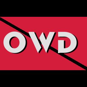 owd diver flag Taucher Tauchen