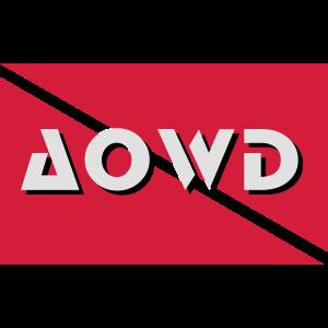 aowd diver flag Taucher Tauchen