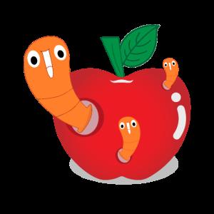 Würmer Wurm Apfel Früchte Pferde Kompost Faul bio