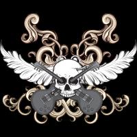 Skull crown wings