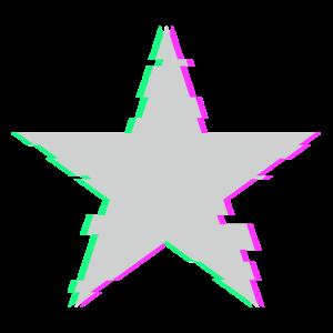 Techno Music Stern Geschenkidee Glitch Star
