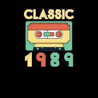 Classic 1989 Mixtape Cassette Geburtstag