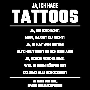 Ja ich habe tattoos